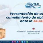 DC1 – Presentación de avisos de cumplimiento de obligaciones ante la AGACE/ Notices of Compliance with Obligations to the AGACE
