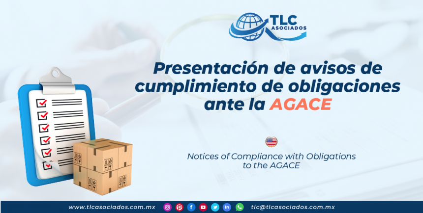DC1 – Presentación de avisos de cumplimiento de obligaciones ante la AGACE/ Notices of Compliance with Obligations to the AGACE