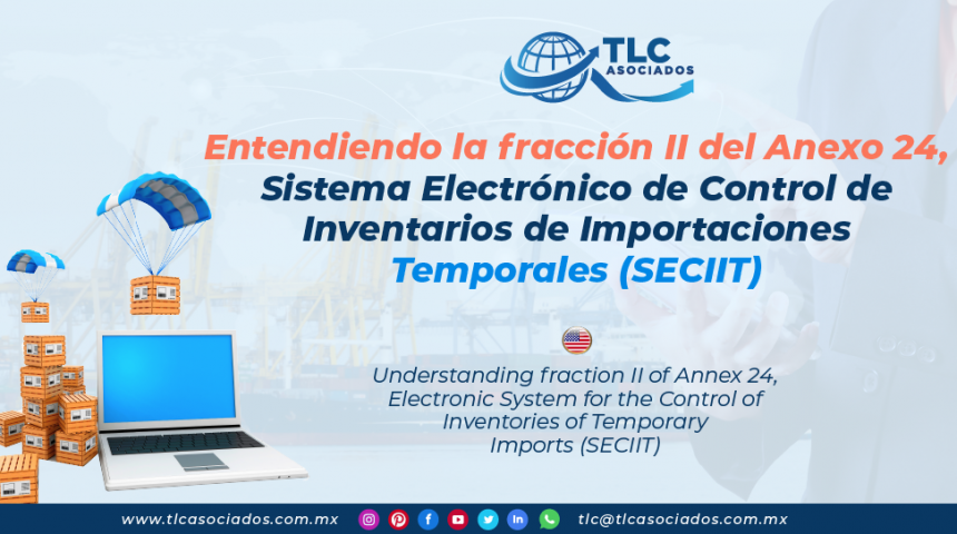 DC3 – Entendiendo la fracción II del Anexo 24, Sistema Electrónico de Control de Inventarios de Importaciones Temporales (SECIIT)/ Understanding fraction II of Annex 24, Electronic System for the Control of Inventories of Temporary Imports (SECIIT)