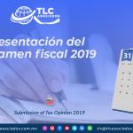 IC20 – Presentación del Dictamen fiscal 2019