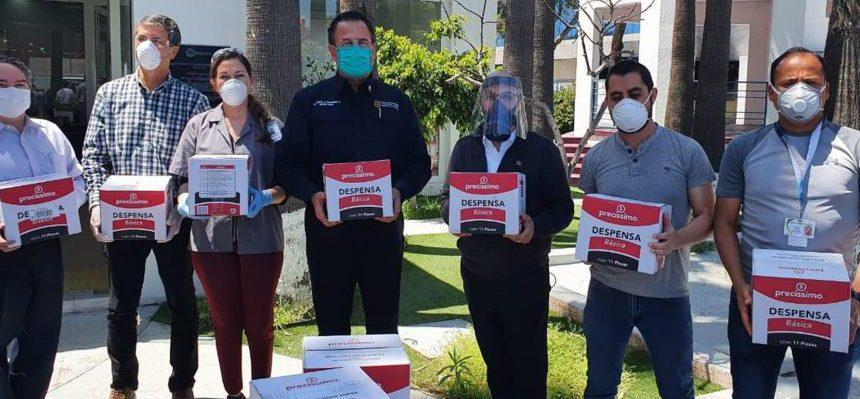 REALIZA FECANACO DONACIÓN DE PROTECTORES FACIALES Y DESPENSAS AL SECTOR SALUD