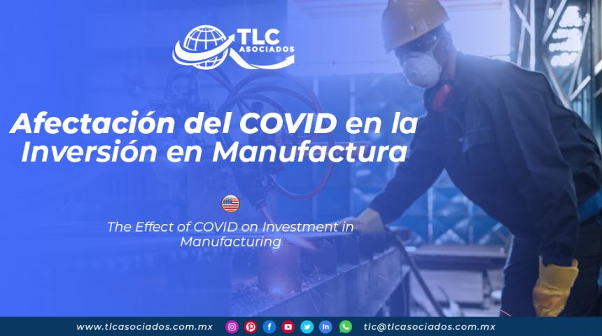 RI27 – Afectación del COVID en la Inversión en Manufactura/ The Effect of COVID on Investment in Manufacturing