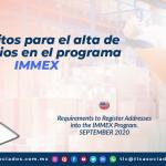 T137 – Requisitos para el alta de domicilios en el programa IMMEX/ Requirements to Register Addresses into the IMMEX Program
