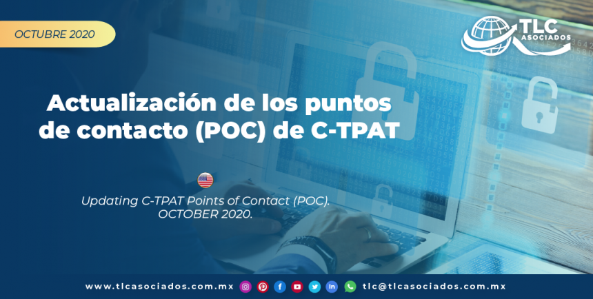 CO29 – Actualización de los puntos de contacto (POC) de C-TPAT/ Updating C-TPAT Points of Contact (POC)