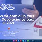IC25 – Verificación de domicilio para efectos de Devoluciones para el 2021/ Address Verification for Refund Purposes by 2021