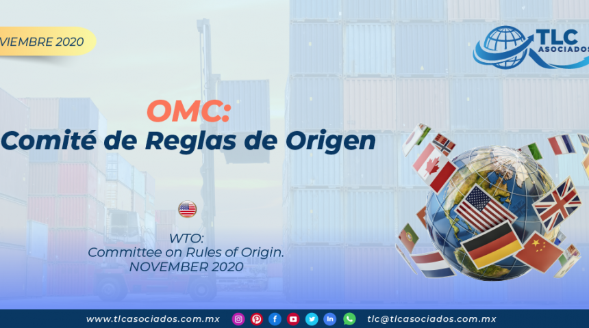 OMC: Comité de Reglas de Origen/ WTO: Committee on Rules of Origin