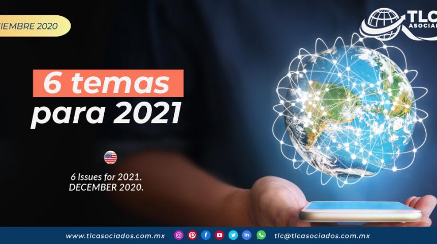 Puntos para 2021 en la Industria