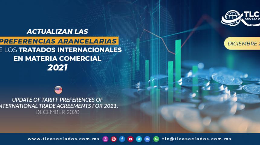 Actualizan las preferencias arancelarias de los tratados internacionales en materia comercial 2021.