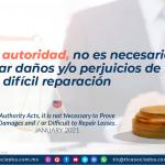 Actos de autoridad, no es necesario acreditar daños y/o perjuicios de difícil reparación/ Authority Acts, it is not Necessary to Prove Damages and / or Difficult to Repair Losses