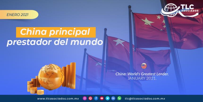 China principal prestador del mundo
