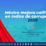 México mejora calificación en índice de corrupción en 2020