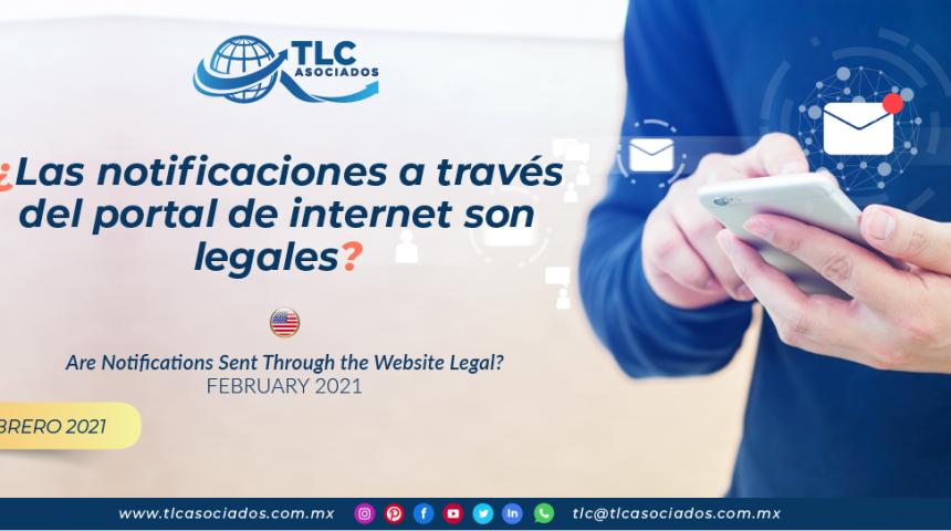 ¿Las notificaciones a través del portal de internet son legales?