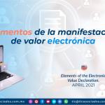 Elementos de la manifestación de valor electrónica