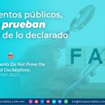 Documentos públicos, NO prueban la verdad de lo declarado