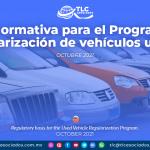 Base normativa para el Programa de Regularización de vehículos usados